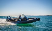 Electric RIB out cruising
