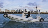 6.1m Sport RIB with Auckland City in the horizon