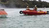 6.1m D Tube with fire fighters on water